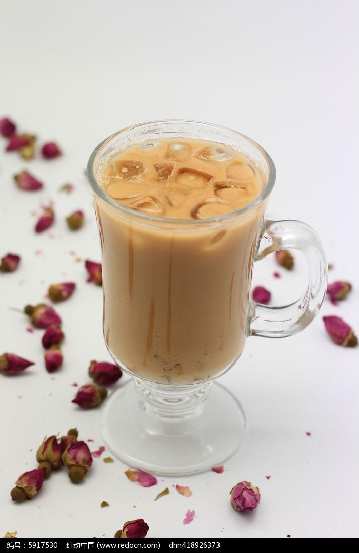玫瑰花瓣奶茶