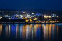 美丽的巫山县城夜景
