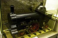 早期铁路蒸汽机车模型