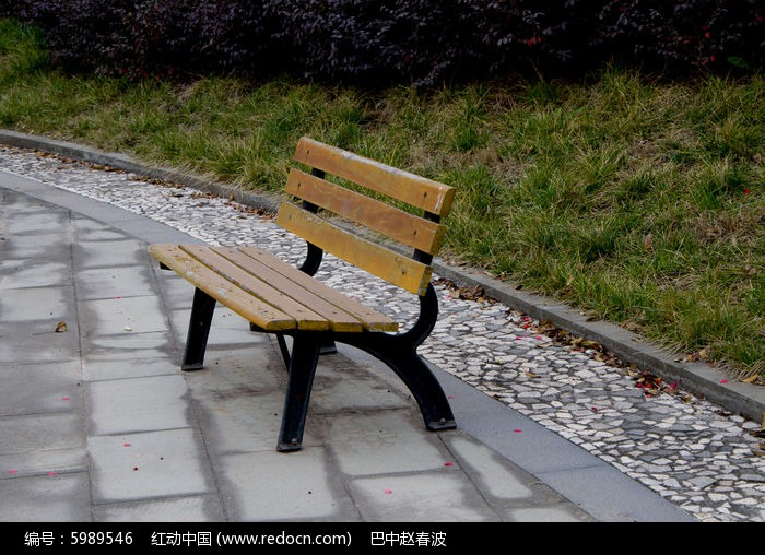 公园椅子图片