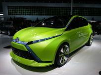 绿色丰田概念电动汽车