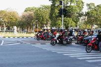 曼谷街头的摩托车