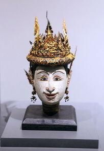 泰国彩绘铜佛头
