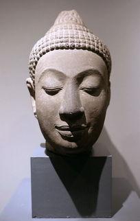 泰国佛头石雕