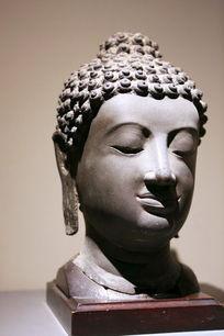 泰国铜雕长耳佛头