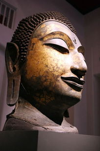 泰国铜雕佛头像