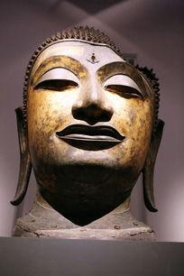 泰国铜雕巨型佛头像