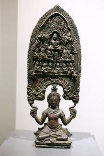 泰国铜雕坐佛托佛像