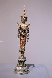泰国站姿彩色铜佛像