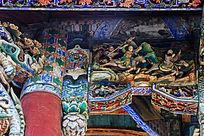 亳州花戏楼的木雕构件彩绘
