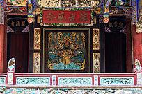 亳州花戏楼舞台背景图案彩绘