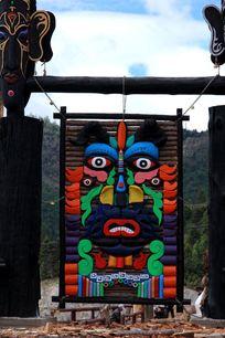 藏区传统工艺人物头像