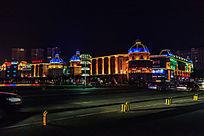 城市建筑的灯光景观