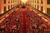 俯拍酒店宴会厅