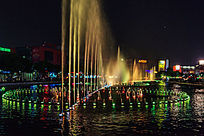 广场音乐喷泉的LED灯光