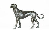 精铜铸仿郎世宁十全十美图灵犬摆件
