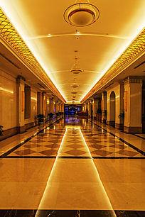 酒店客房豪华走廊过道