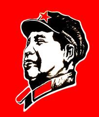 毛主席头像手绘涂鸦