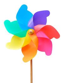 棚拍高清七彩风车玩具