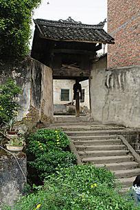 清代建筑田家楼门