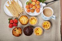 小蛋糕下午茶点心合图摄影