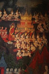 泰国壁画佛念经