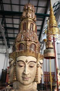泰国木雕四面佛