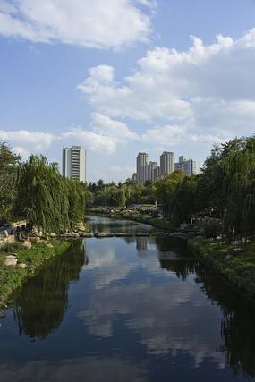 青岛海泊河公园的风景