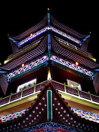 新平民族广场大钟楼夜景