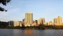厦门筼筜湖的建筑