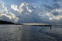 防城港金滩的清晨