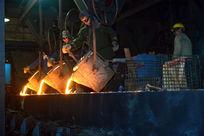 钢铁厂生产铁水铸造
