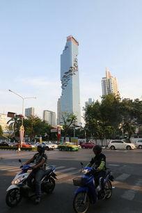 曼谷街头摩托车