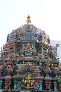 泰国彩釉佛顶雕像