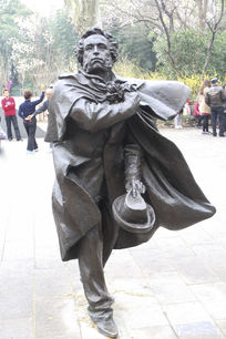 文豪普希金雕塑