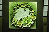 鲜花音乐装饰墙
