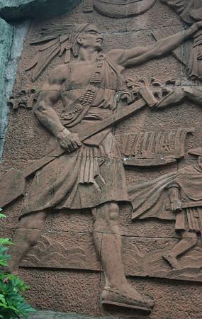 原始部落猎人石雕