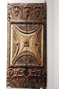 非洲雕刻几何图案板刻