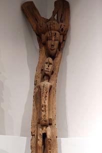 非洲雕刻男人女人木刻