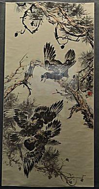 黄胄绘画《临送人花鸟》(1981年)