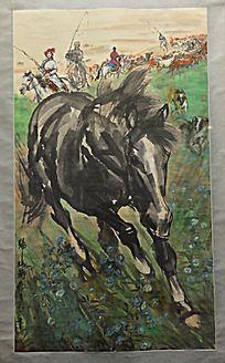 黄胄绘画《牧归图》(1986年)