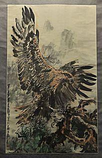 黄胄绘画《群鹰图》(1984年)