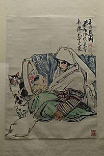 黄胄绘画《育婴图》(1979年)