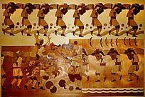 传统舞龙人物画