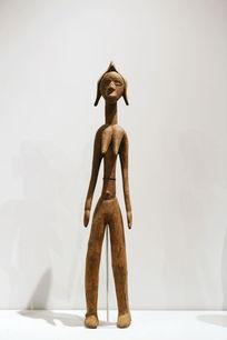 非洲木雕站立女人像
