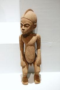 非洲木雕站姿男孩雕像
