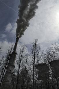 环境污染烟囱冒烟