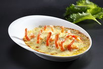 基尾虾蒸水蛋
