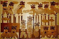 民间舞狮装饰画