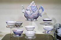 彩色胶釉茶具